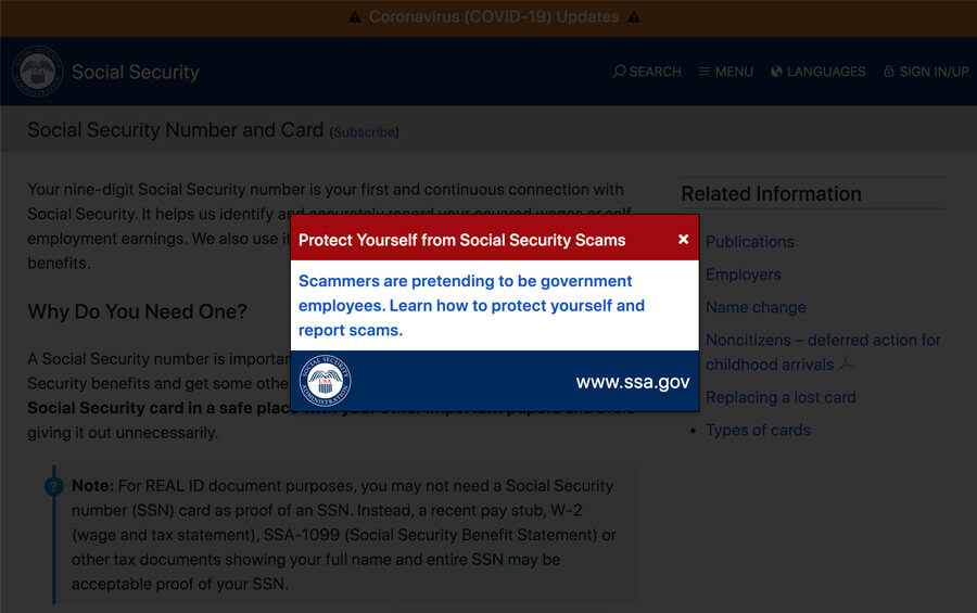 social security administration phone call