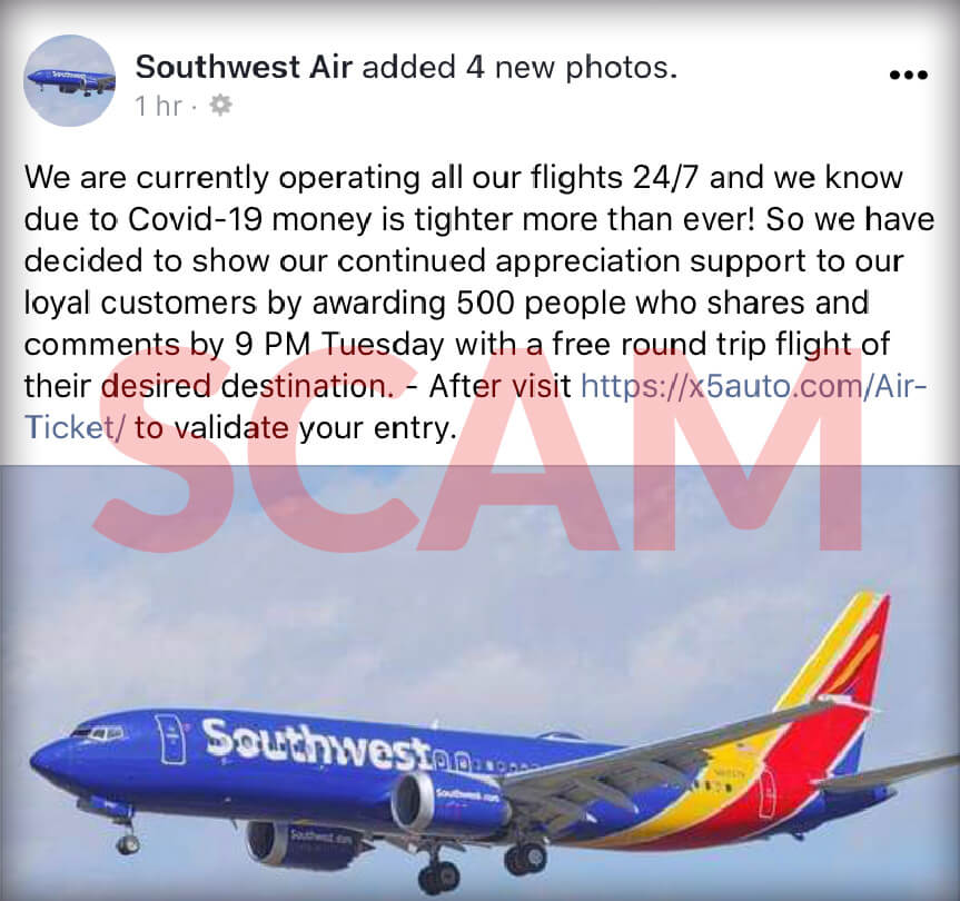 Southwest airlines giveaway