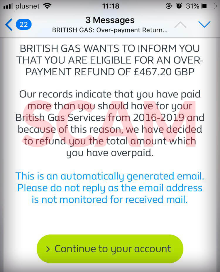british gas overpayment