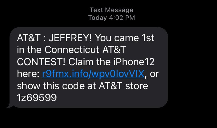 AT&T text message